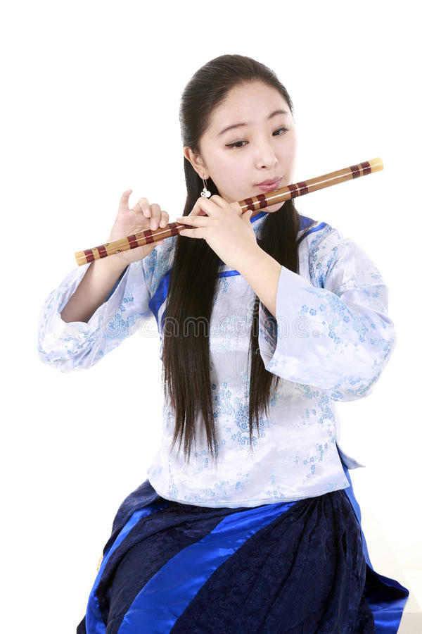 Free Bamboo Flute Performer Royalty Free Stock Photos - 14247258