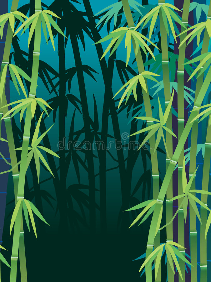 Bamboo forest royalty free illustration