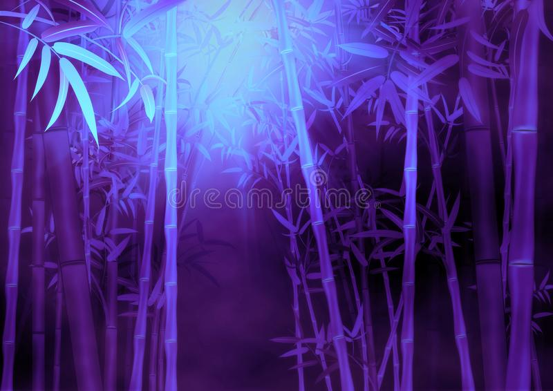Bamboo forest background royalty free illustration