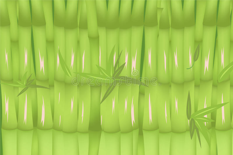 Bamboo Forest Green Background Design Vector royalty free illustration