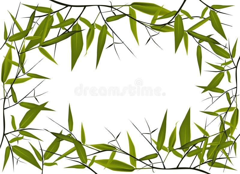Bamboo frame stock illustration