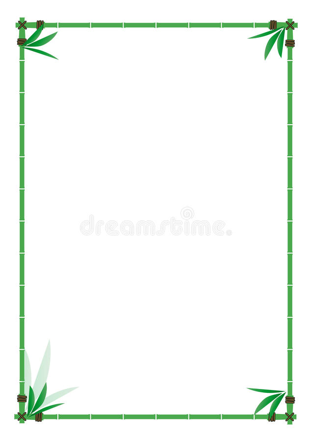 Download Bamboo frame stock vector. Image of diploma, bill, adobe - 13170223