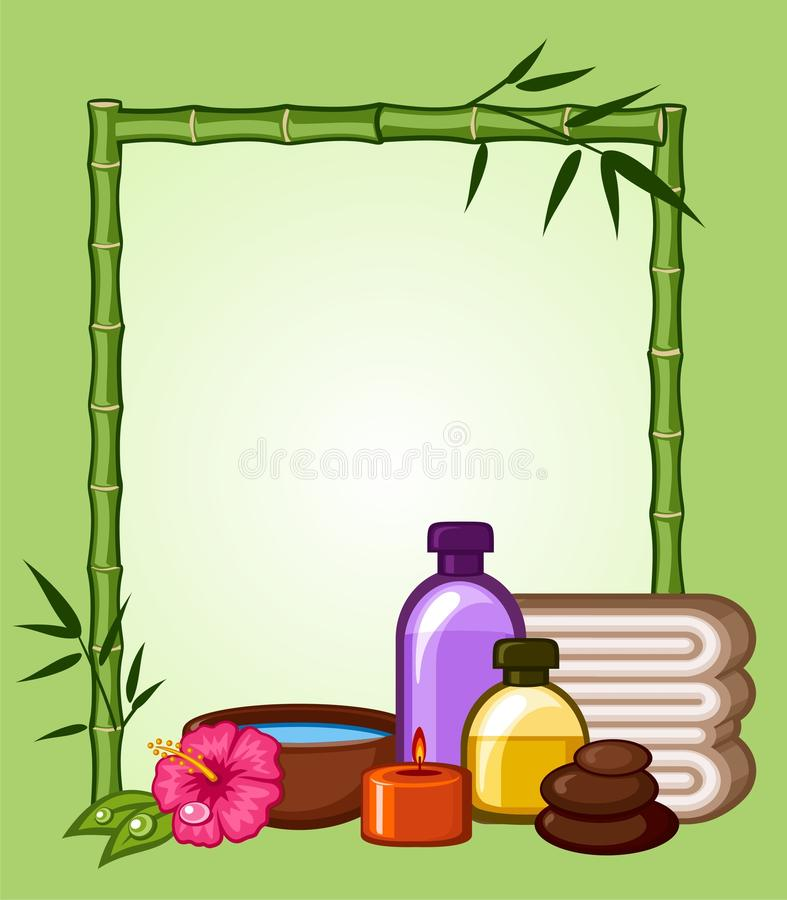 Download Bamboo, frame stock vector. Image of lifestyle, cosmetics - 13656385