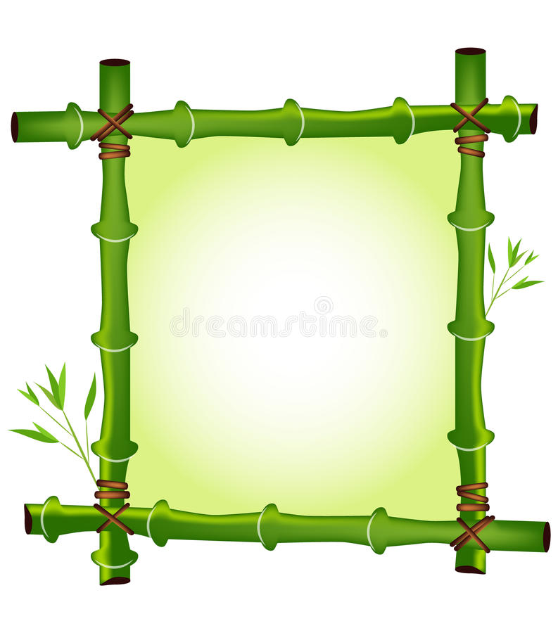 Bamboo frame vector illustration