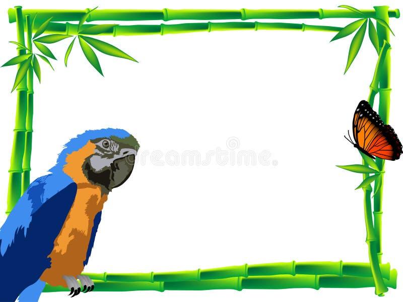 Bamboo frame royalty free illustration