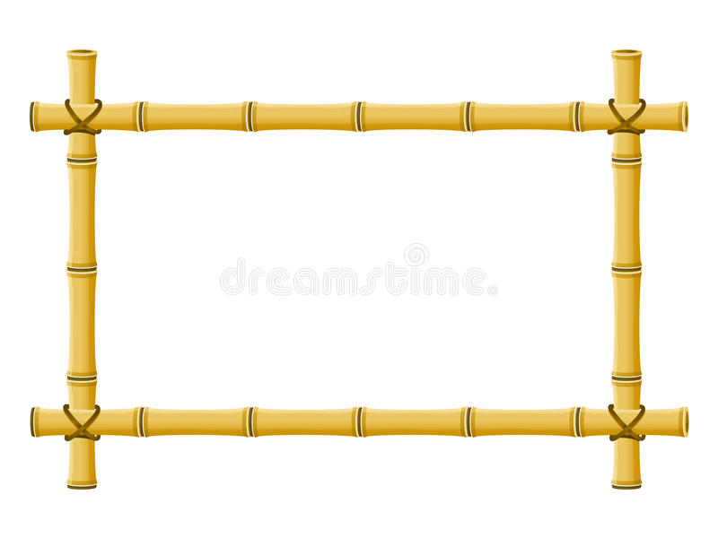 Bamboo Frame stock illustration