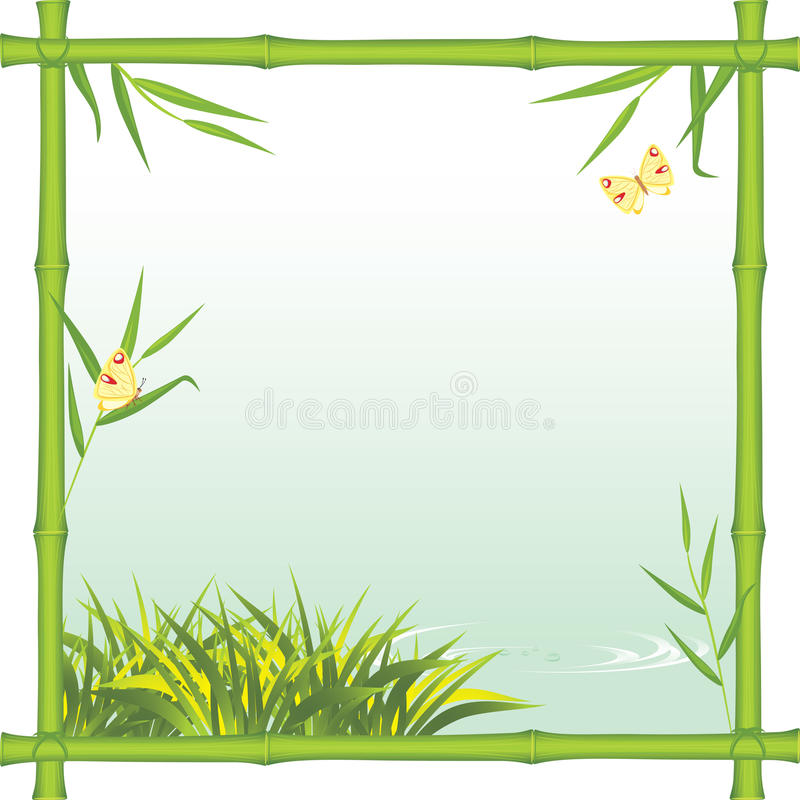 Download Bamboo Frame With Kind Of The River Stock Vector - Illustration: 20473497