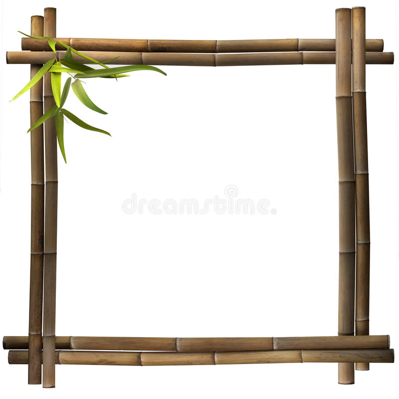 Download Bamboo frame square brown stock illustration. Image of picture - 36812852