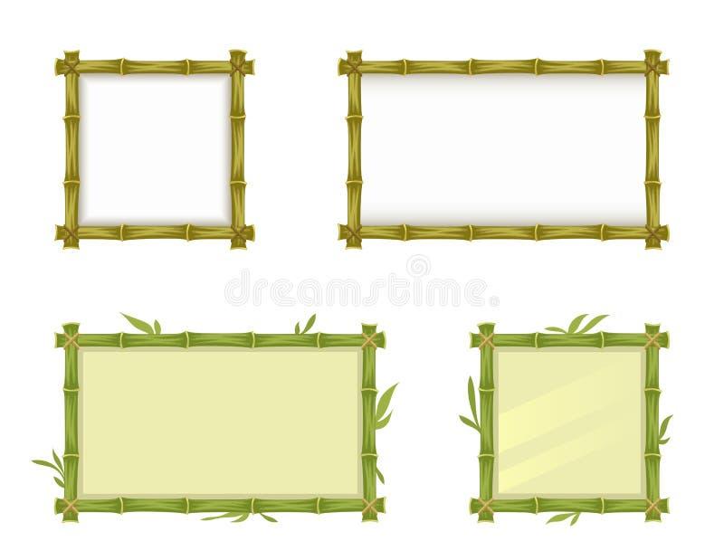 Bamboo frame vector illustration