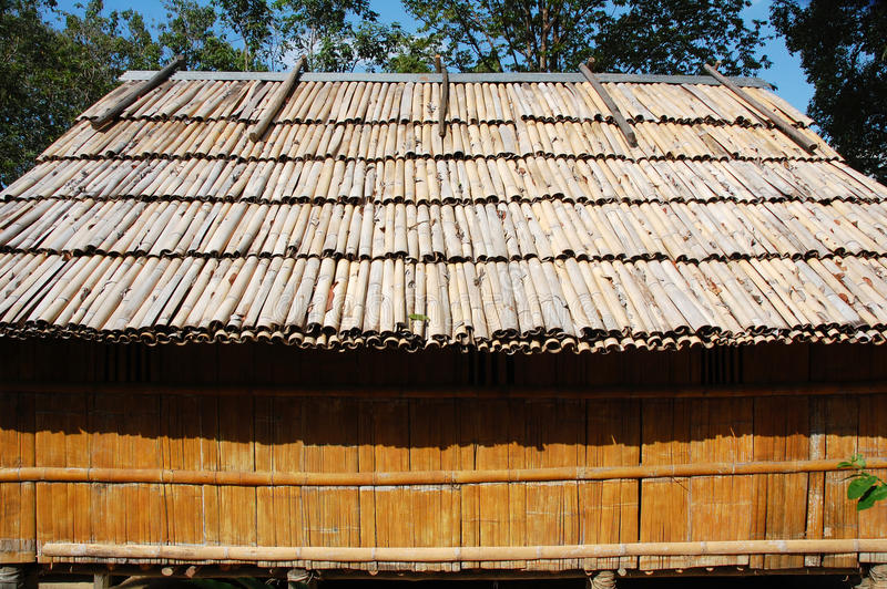 Bamboo house royalty free stock photography