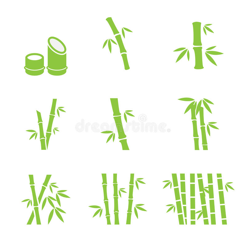 Bamboo icon stock illustration