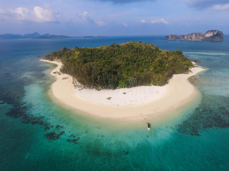 Bamboo Island, aerial view royalty free stock photo