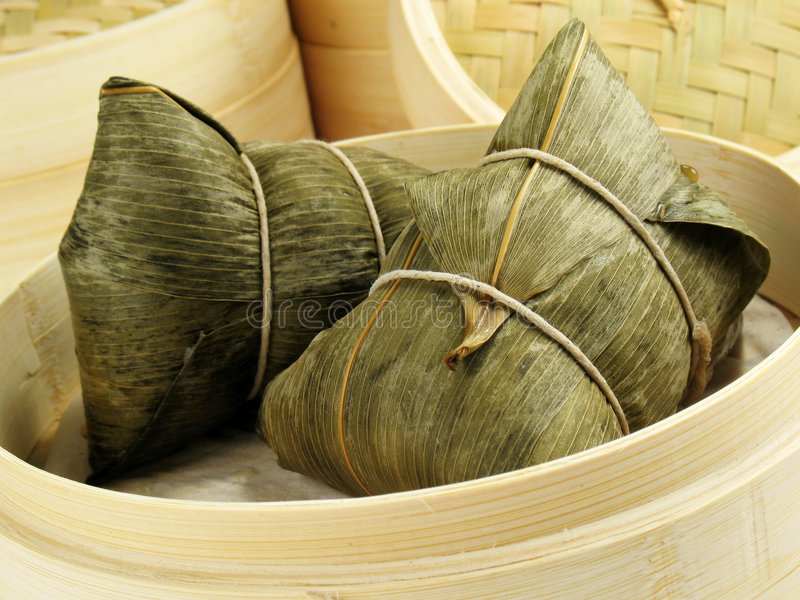 Bamboo Leaf Dumplings stock photos