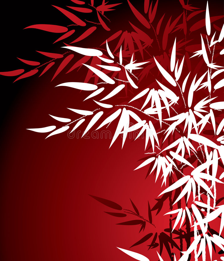 Download Bamboo Leaves stock vector. Image of accent, leaf, calligraphy - 2082626
