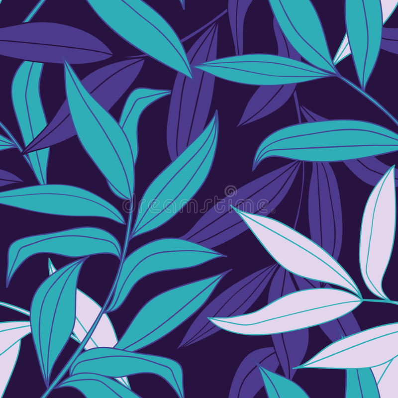 Free Bamboo Leaves Seamless Pattern Royalty Free Stock Photo - 13270415