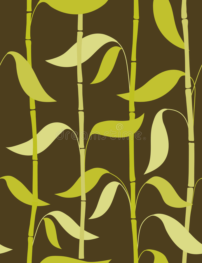 Bamboo leaves - seamless pattern vector illustration