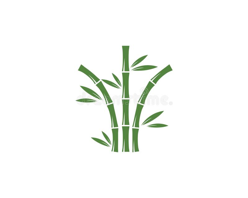 Bamboo logo vector. Bamboo logo with green leaf vector icon template, design, illustration, nature, plant, background, symbol, art, isolated, tree, spa, natural stock illustration