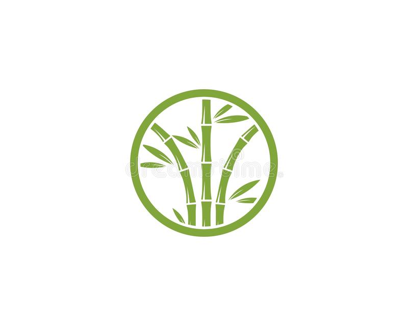 Bamboo logo vector. Bamboo logo with green leaf vector icon template, design, illustration, nature, plant, background, symbol, art, isolated, tree, spa, natural vector illustration