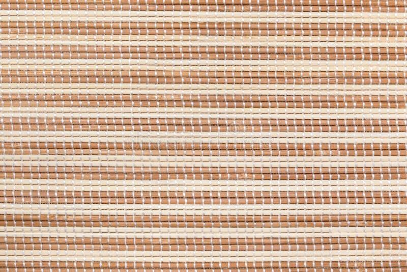 Bamboo mat detailed texture backdrop. stock photo