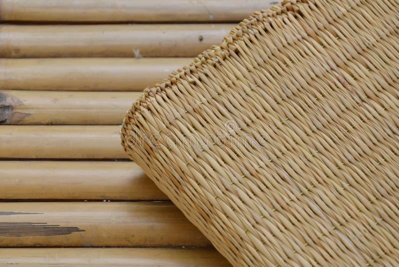 Bamboo mat on litter royalty free stock photos