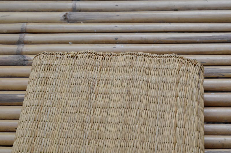 Bamboo mat on litter royalty free stock images