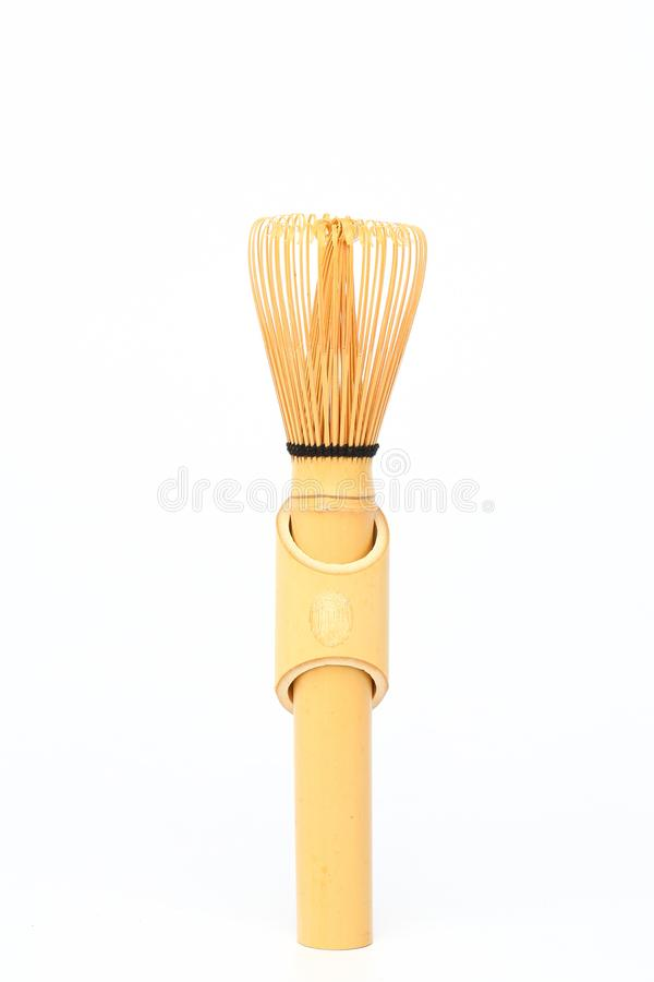 Bamboo matcha whisk. In perfect shape stock photo