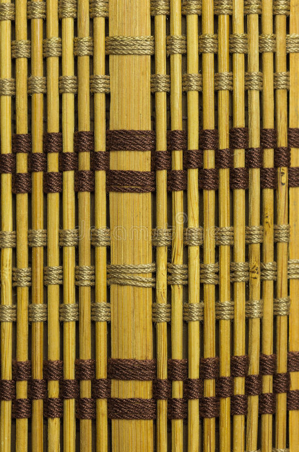 Bamboo material background. Backdrop background bamboo blinds brown curtain stock photo