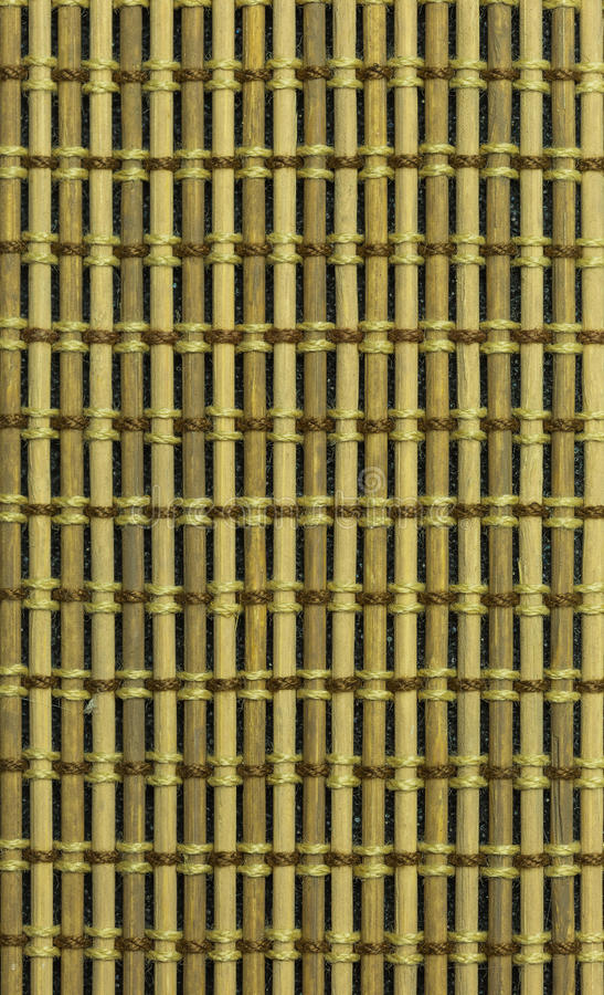 Bamboo material background. Backdrop background bamboo blinds brown curtain stock image