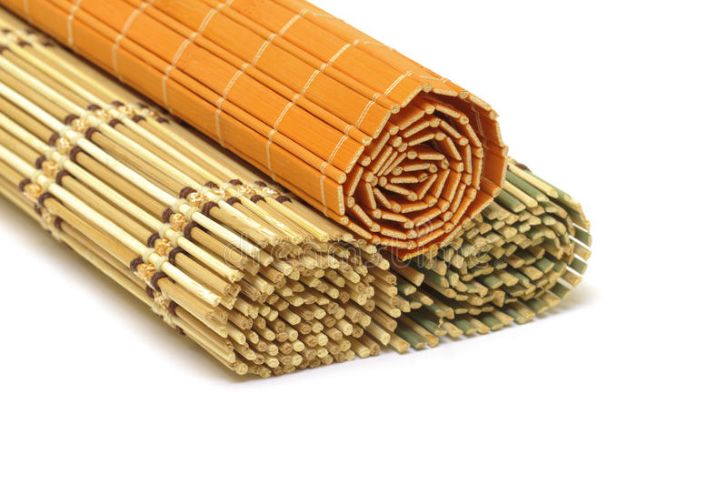 Bamboo mats stock photography