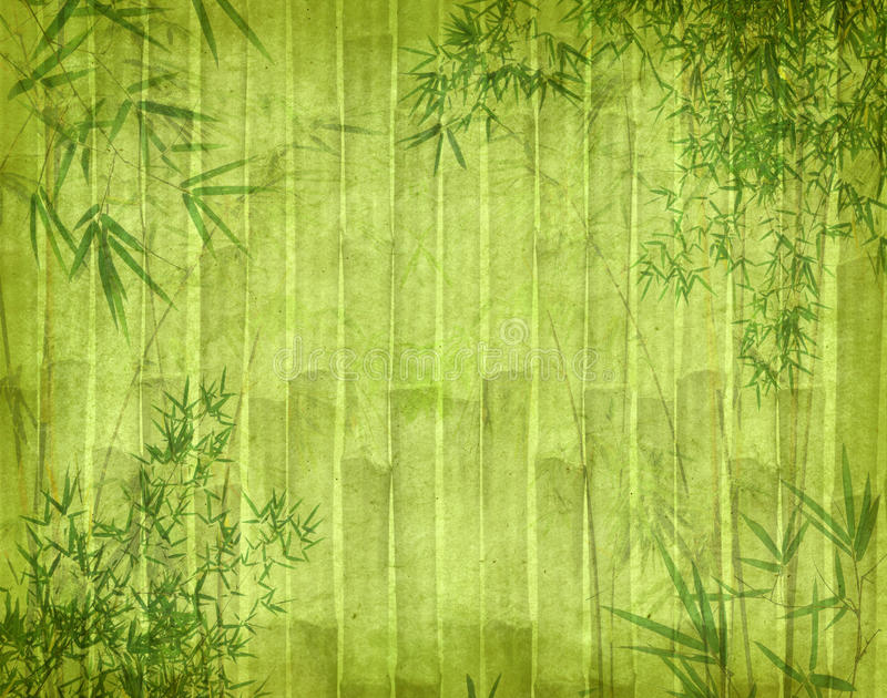 Download Bamboo On Old Grunge Antique Paper Stock Image - Image: 22322707