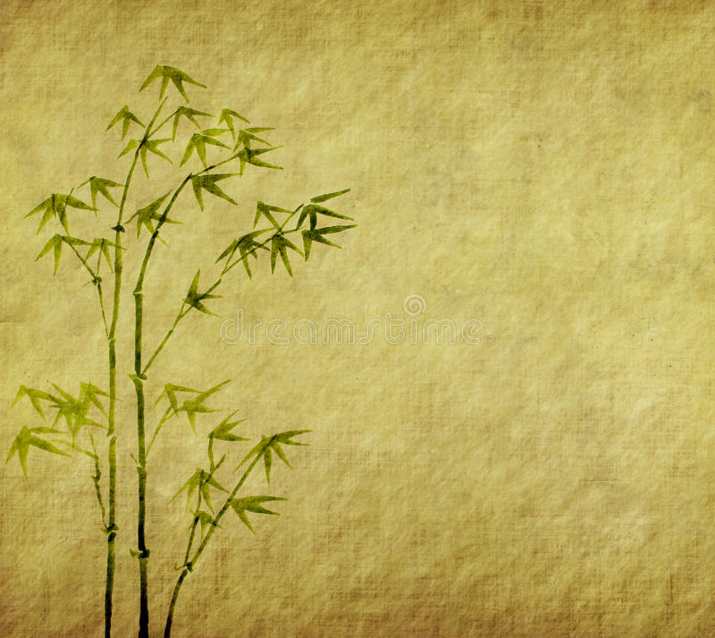Download Bamboo On Old Grunge Paper Texture Stock Image - Image: 22341015