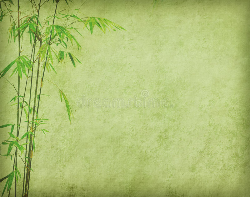 Download Bamboo On Old Grunge Paper Texture Stock Photo - Image: 26144876