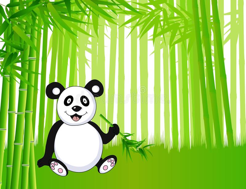 Download Bamboo and panda stock vector. Illustration of touching - 22893889