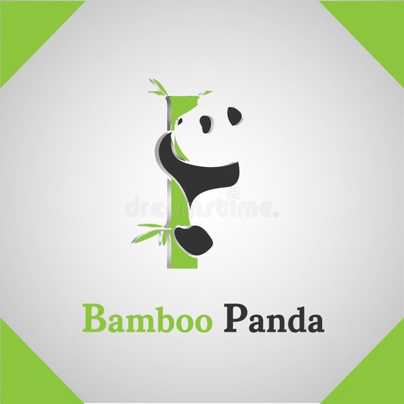 Bamboo Panda icon logo royalty free stock photo