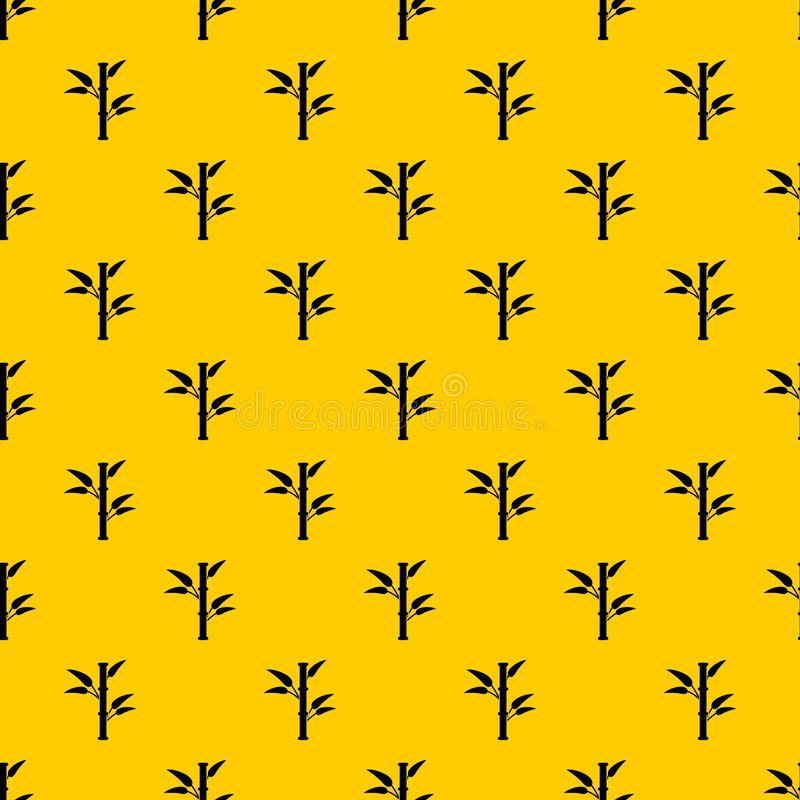 Bamboo pattern vector. Bamboo pattern seamless vector repeat geometric yellow for any design royalty free illustration