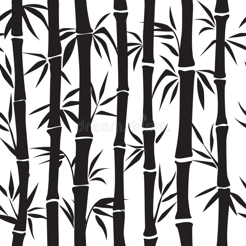 Bamboo pattern. Vector silhouette vector illustration