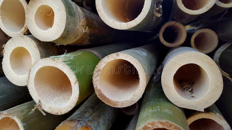 Bamboo piles, the basic ingredients of various handicrafts. Bamboo piles, the basic ingredients of various household handicrafts and art royalty free stock images
