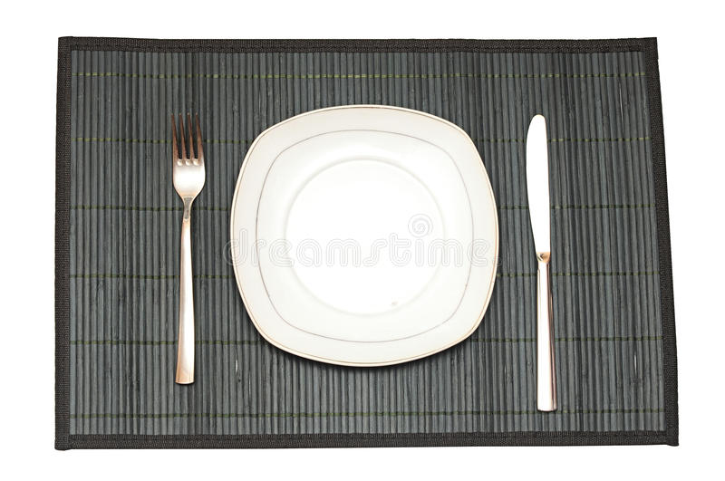 Download Bamboo placemat stock image. Image of fork, stick, placemat - 31443061