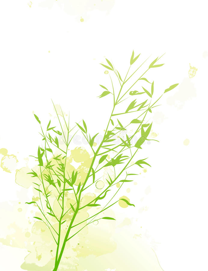 Bamboo Rain stock illustration