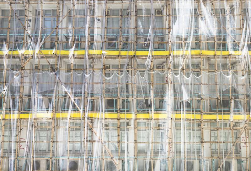 Bamboo Scaffolds stock photo