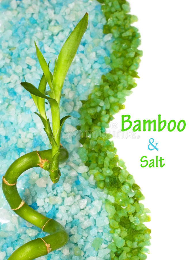 Download Bamboo and sea salt stock image. Image of background - 25589347