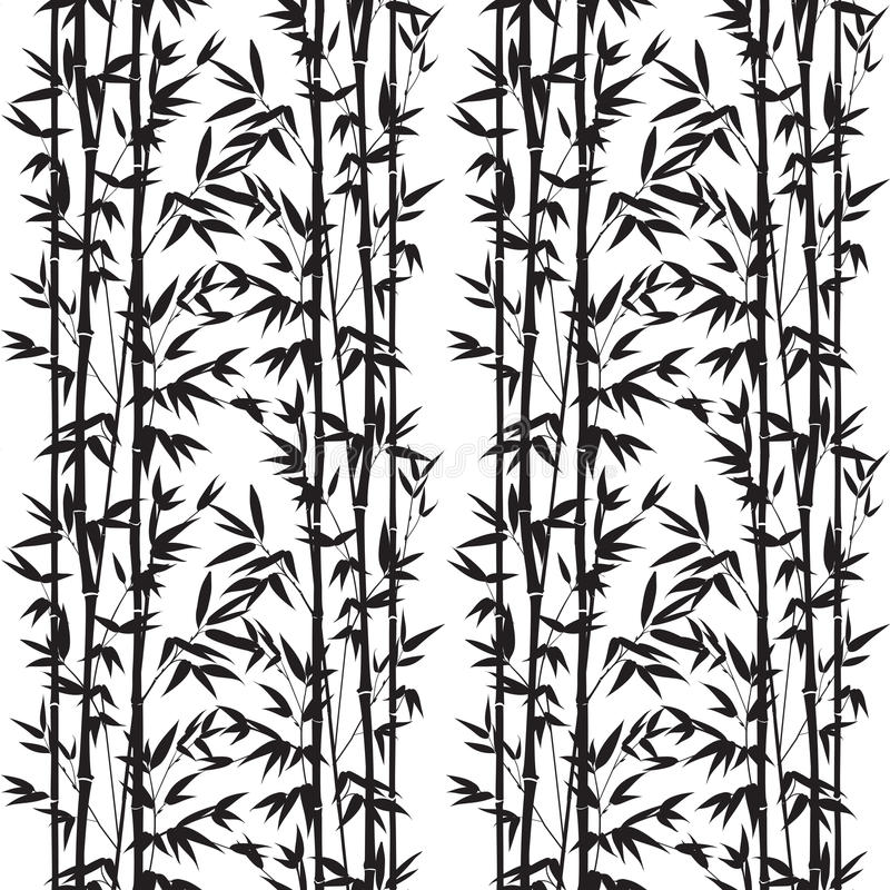 Bamboo seamless pattern. Isolated on white background. Vectro illustration vector illustration