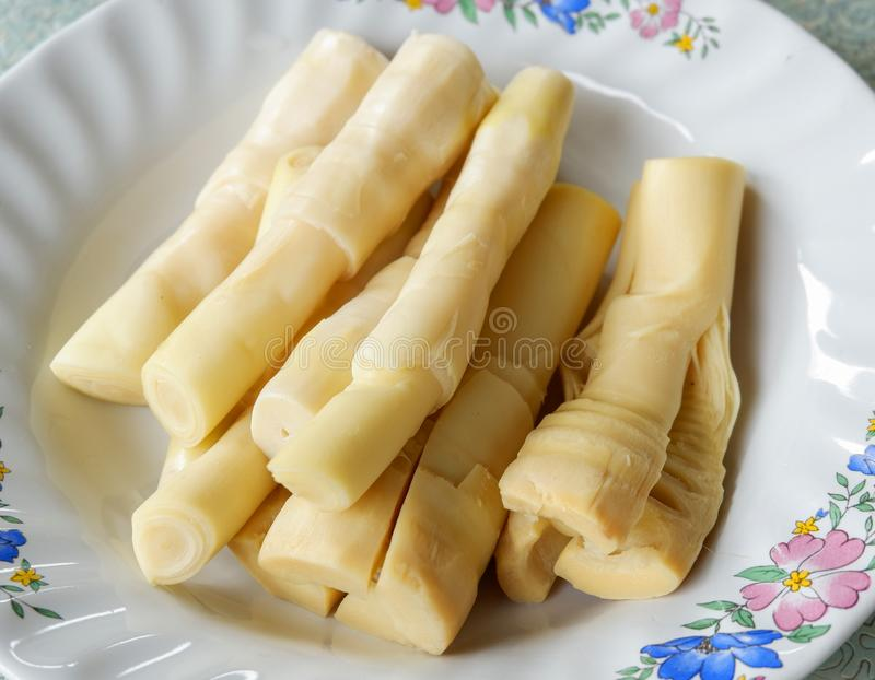 Bamboo shoot Food. Bamboo shoot for chili paste is food thailand royalty free stock image