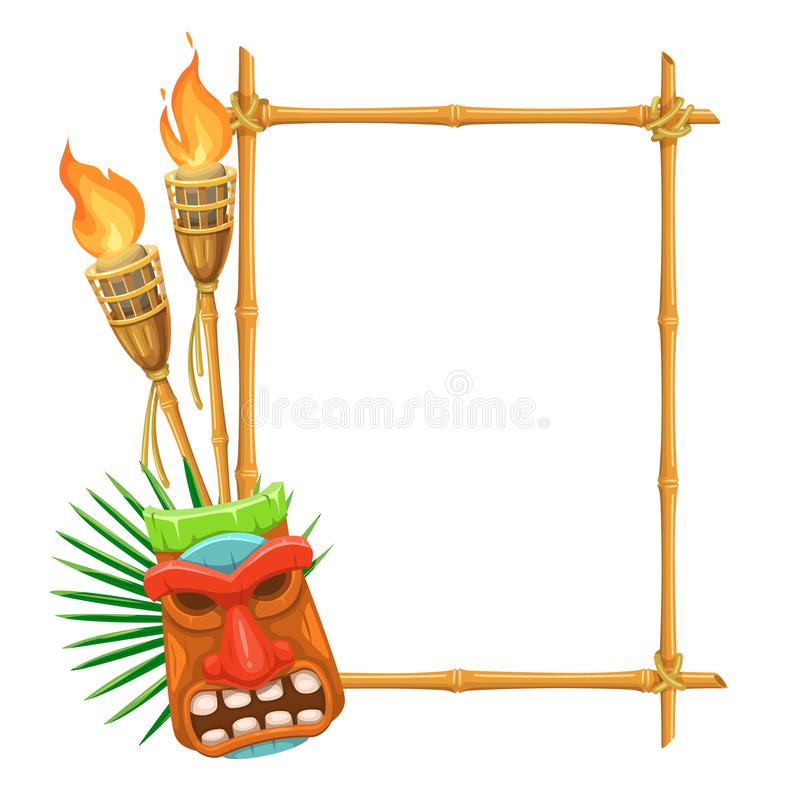 Bamboo Signboard Tiki royalty free illustration