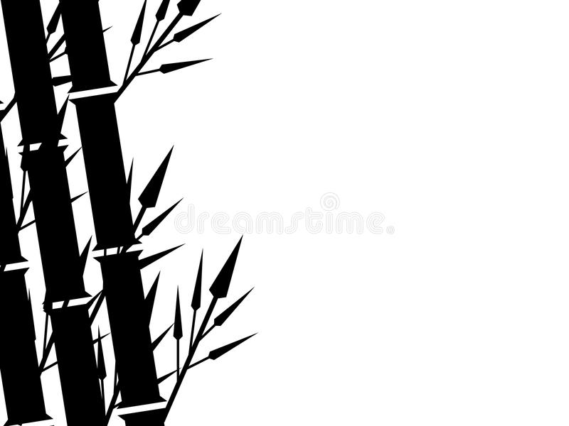 Bamboo Silhouette Background. Illustration of Bamboo Silhouette Background royalty free illustration