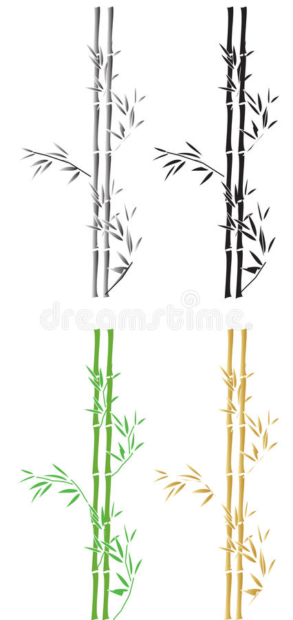 Bamboo silhouttes royalty free illustration