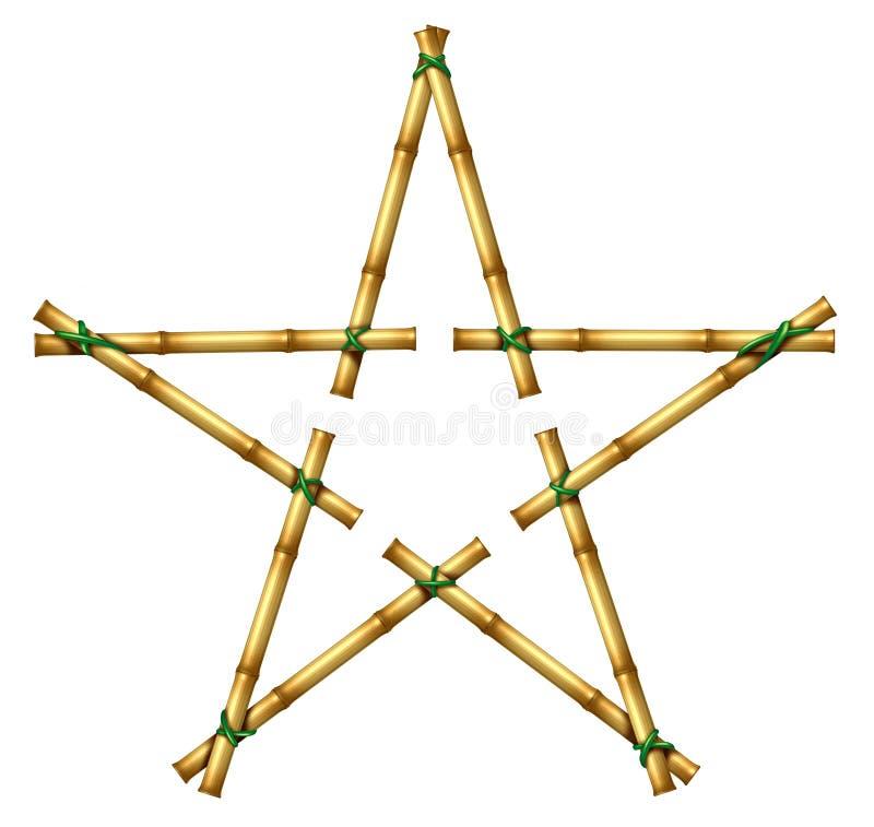 Download Bamboo Star stock illustration. Image of hawaiian, white - 26331927