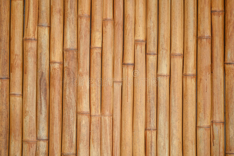 Bamboo stick pattern, building material background. Close up wood texture detail of abstract yellow-brown bamboo stick pattern, japanese building material for royalty free stock image