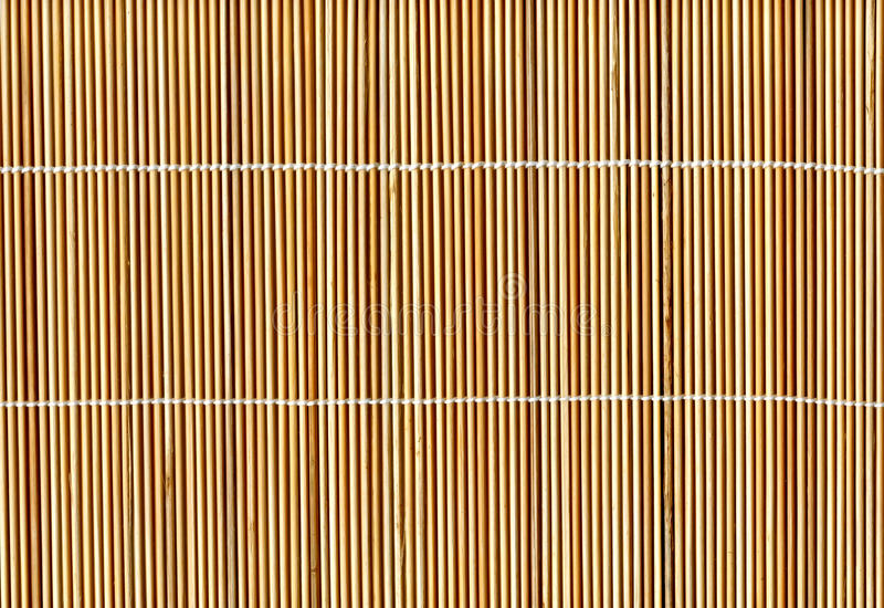 Bamboo Stick Straw Mat Texture Background Stock