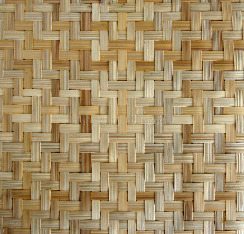 Bamboo or straw weaving. Texture as background royalty free stock photo